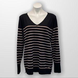 CALVIN KLEIN  Pullover Sweater V Neck Size XL